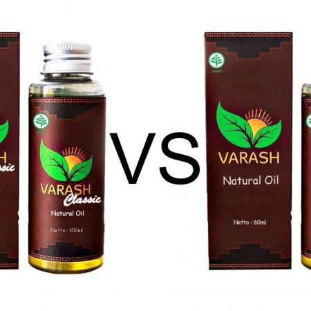 Perbedaan Minyak Varash Classic dan Natural Oil